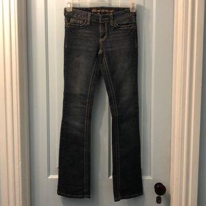 Blue Asphalt jeans flare low rise size 0